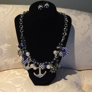 Nautical and nice necklace and earrings set.